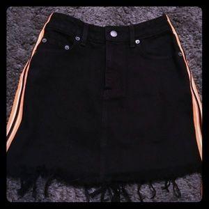 Carmar denim black colin skirt